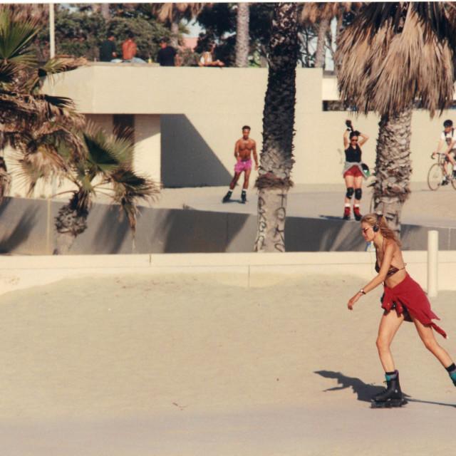 """""""Analog - Los Angeles - Skating"""" stock image"""