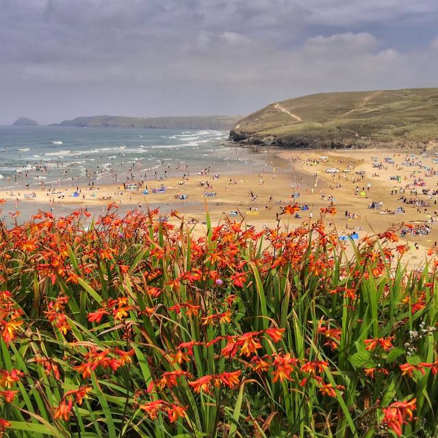 """Perrenporth, Cornwall"" stock image"