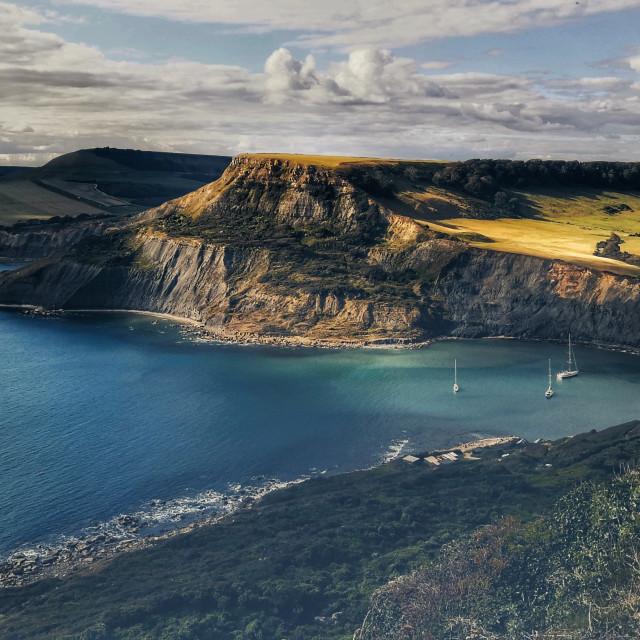 """Chapmans Pool, Dorset"" stock image"