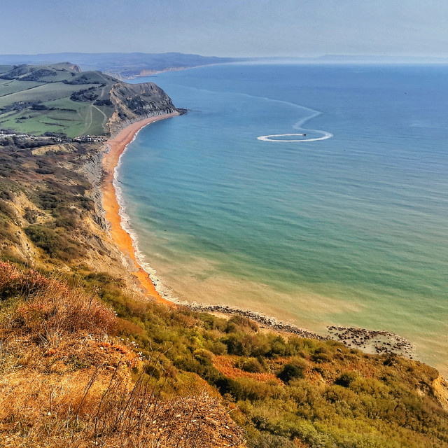"""Golden Cap, Dorset"" stock image"