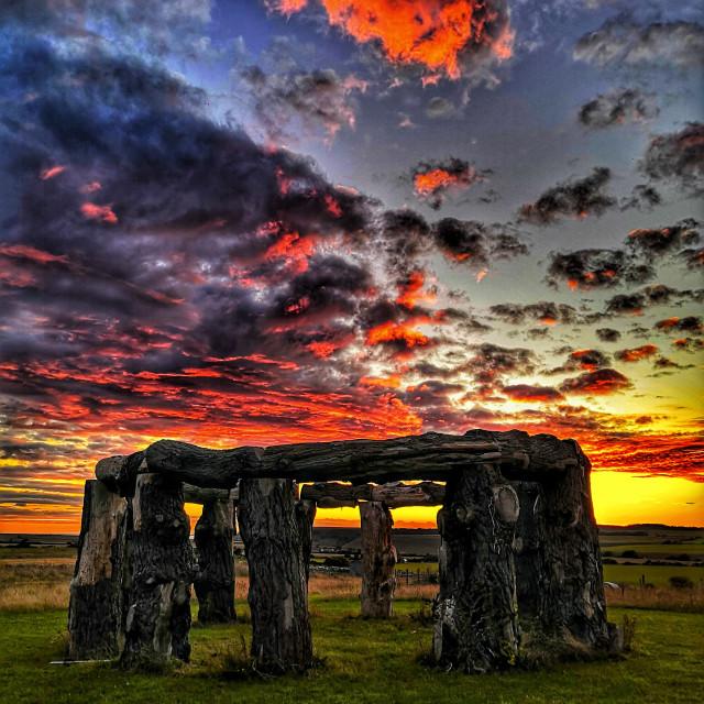 """""""Woodhenge - Worth Matravers"""" stock image"""