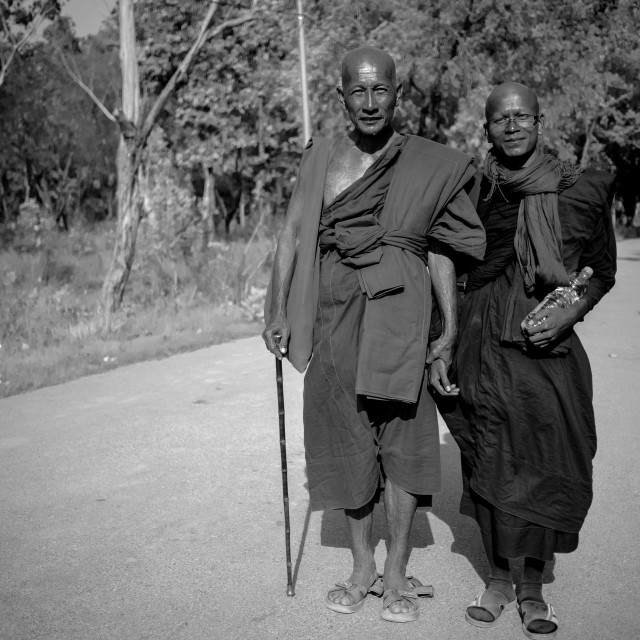 """Tattooed monks"" stock image"