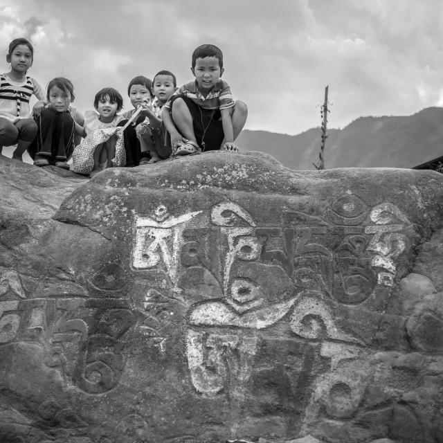 """""""Tibetan refugee settlement"""" stock image"""