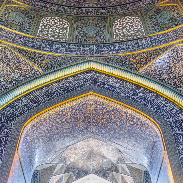 """""""Sheikh Lotfollah Mosque"""" stock image"""