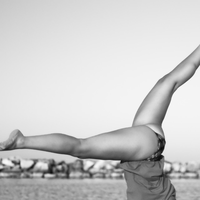 """""""Julia's handstand"""" stock image"""