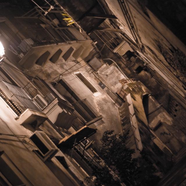 """""""Vicolo di notte"""" stock image"""