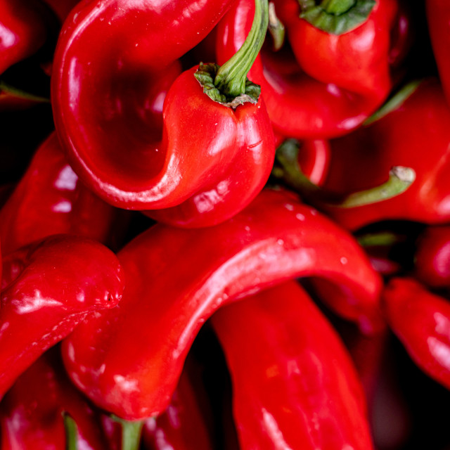 """""""Fresh red peppers"""" stock image"""