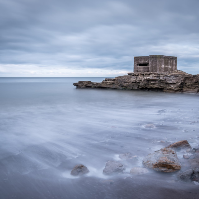 """""""WWII Relics at Cornelian Bay, North Yorkshire"""" stock image"""