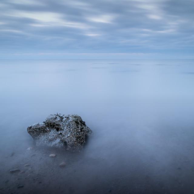 """The Hidden Bay at Cayton, North Yorkshire"" stock image"