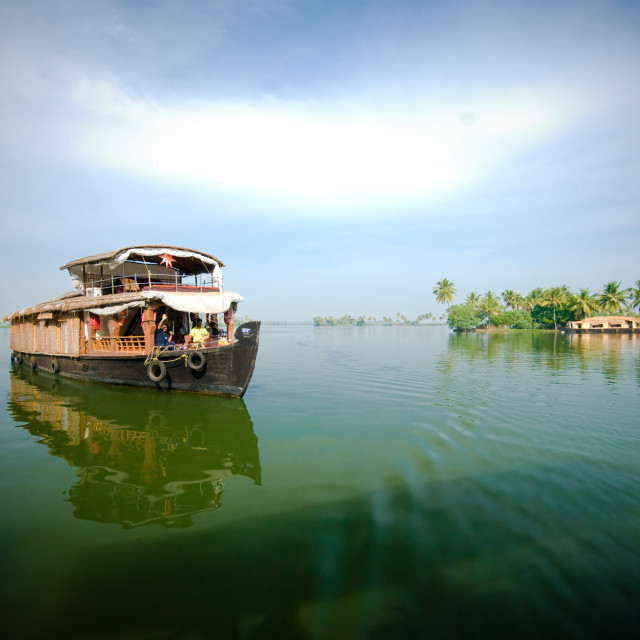 """""""Backwaters house boat"""" stock image"""