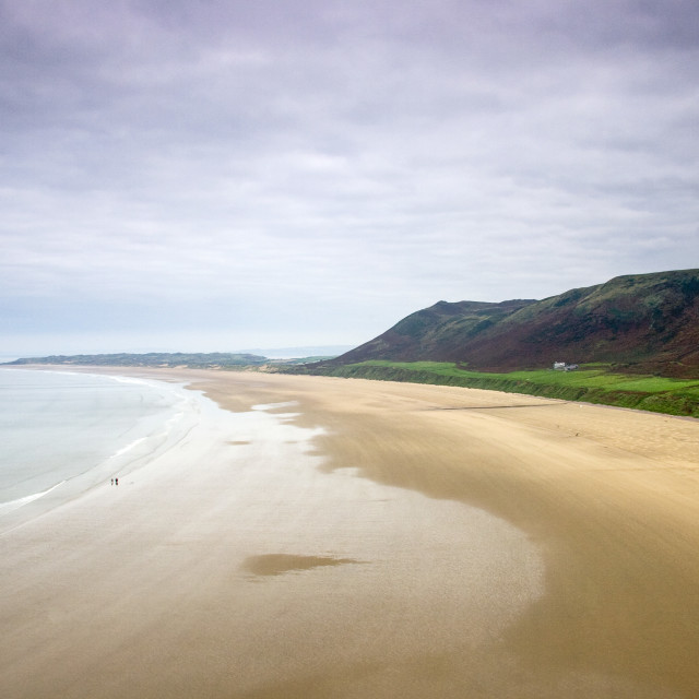 """Rhossili Beach"" stock image"