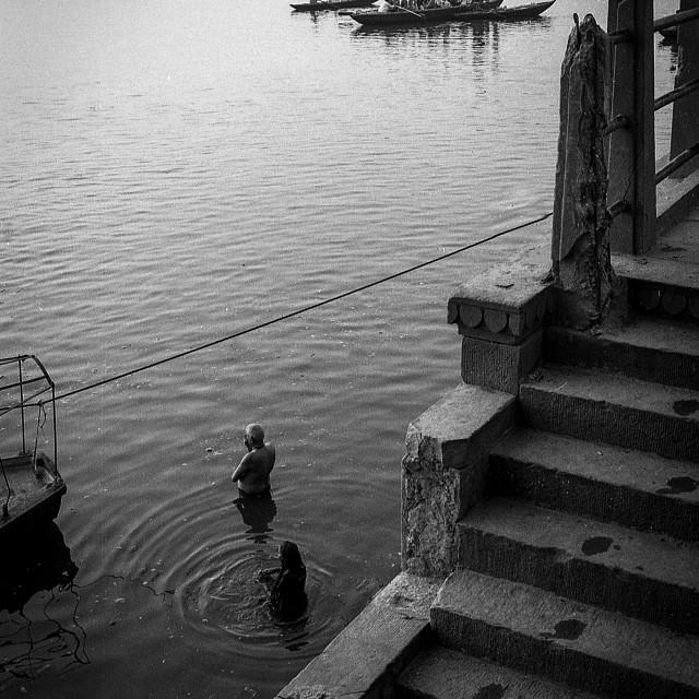 """""""Ganges Sunrise 1999"""" stock image"""
