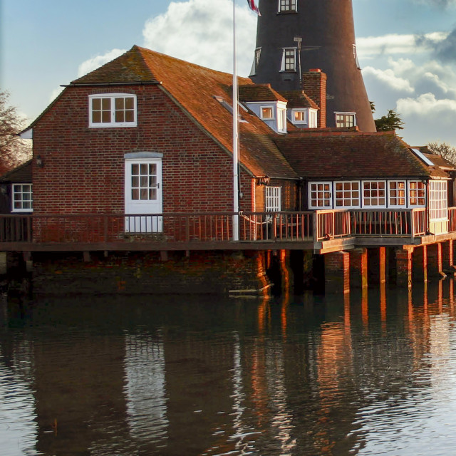 """Langstone Mill"" stock image"