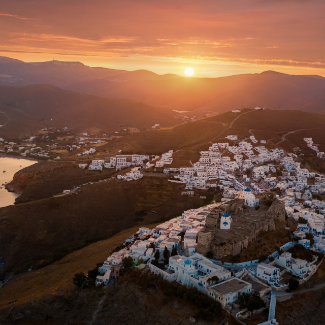 """Sunset in Astypalaia island"" stock image"