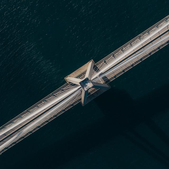 """Rio–Antirrio Bridge"" stock image"