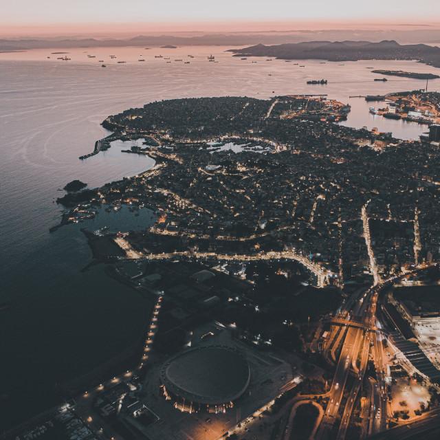 """""""Sunset at Piraeus"""" stock image"""
