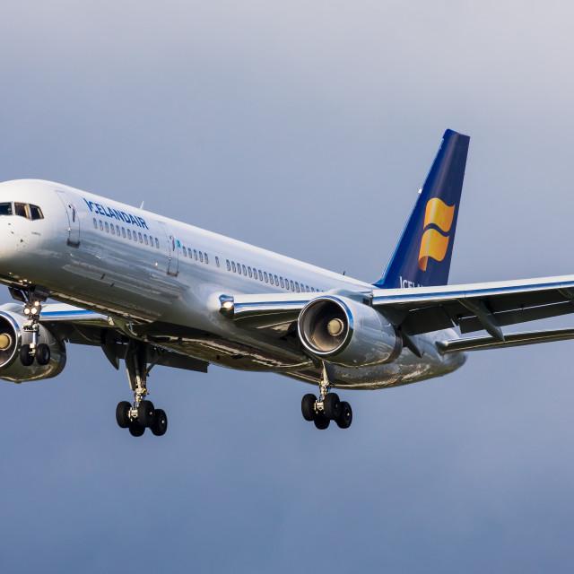 """Boeing B757 Icelandair TF-FIW"" stock image"