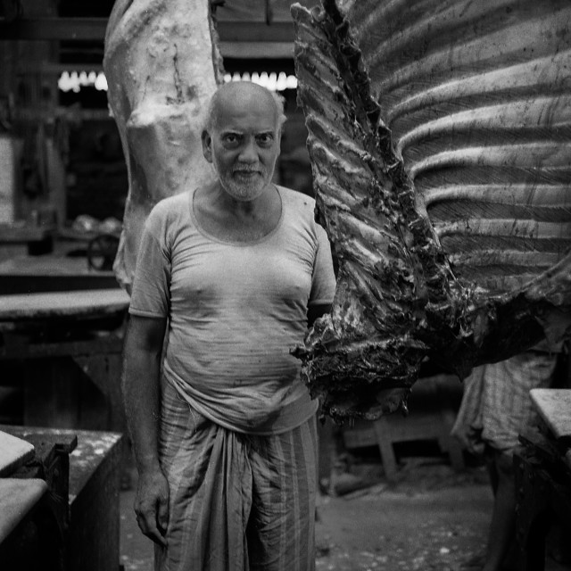 """Hogg Meat Market Calcutta"" stock image"