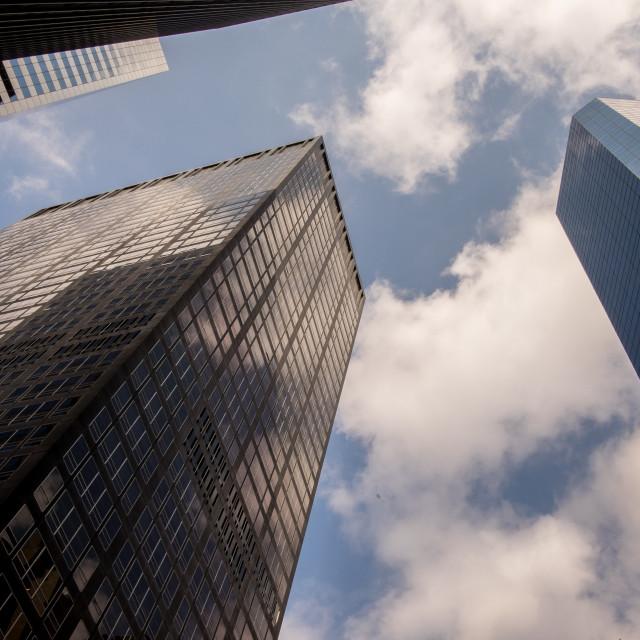 """Manhattan skyscrapers."" stock image"