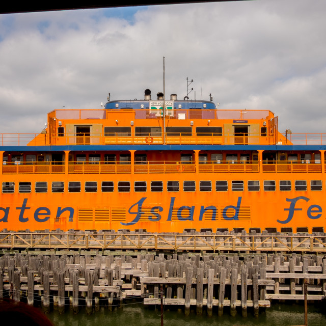 """""""The Staten Island Ferry."""" stock image"""