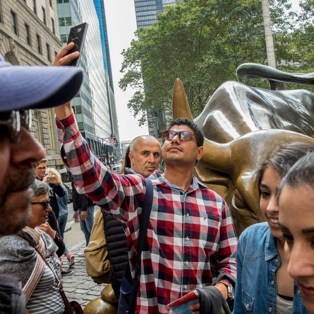 """Charging Bull, Wall Street."" stock image"