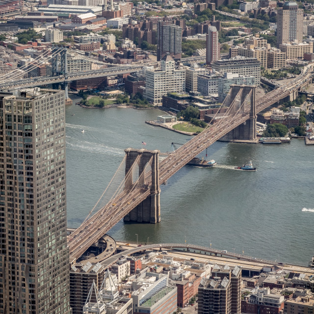 """Brooklyn Bridge, New York."" stock image"