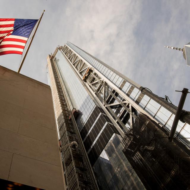 """Flag, World Trade Centre, New York."" stock image"