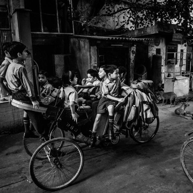 """""""School Children N. Delhi"""" stock image"""