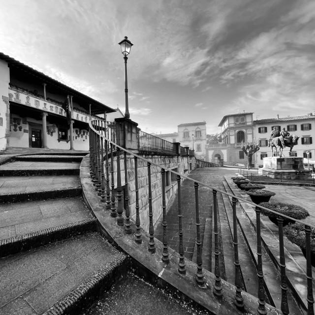 """""""Palazzo Pretorio, Piazza Mino da Fiesole."""" stock image"""