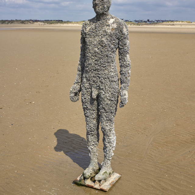 """""""One of Anthony Gormley's statues"""" stock image"""