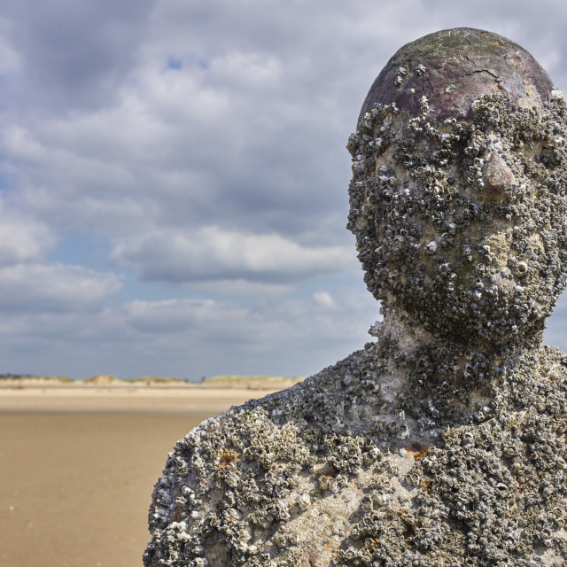 """""""Close up of one of Anthony Gormley's statues"""" stock image"""