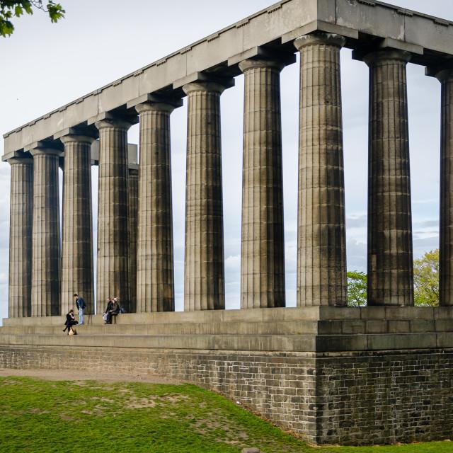 """National Monument, Edinburgh"" stock image"