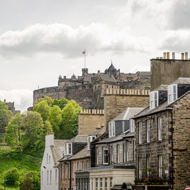 """Edinburgh Castle, Scotland"" stock image"