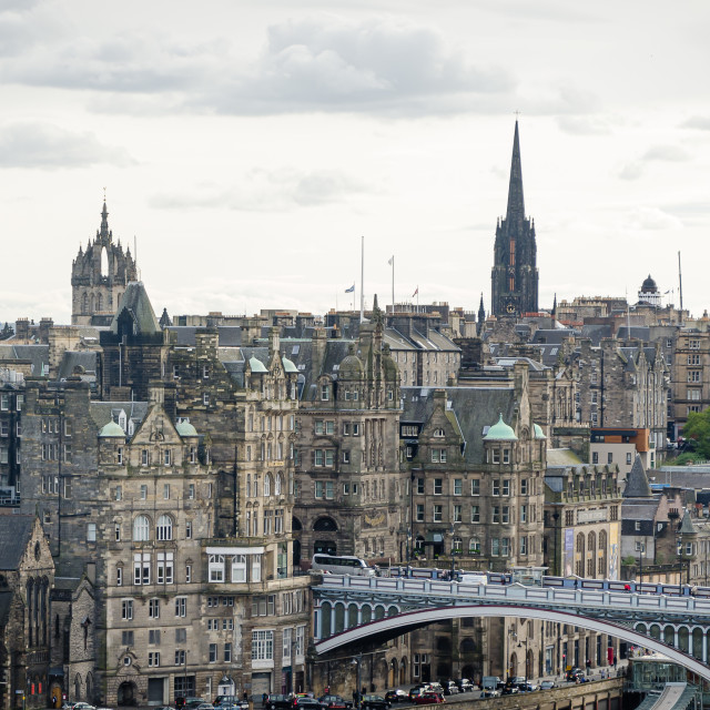 """View of Edinburgh, Scotland"" stock image"