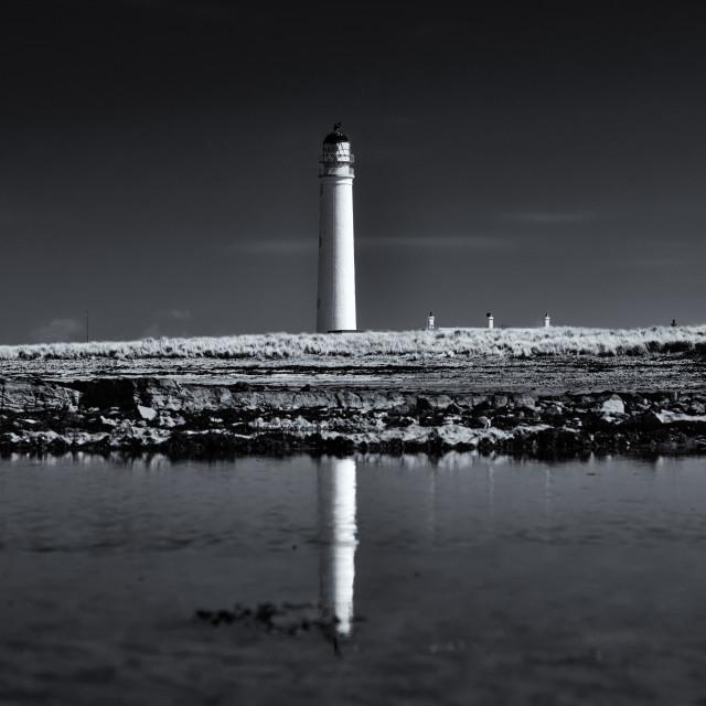 """Barns Ness Lighthouse"" stock image"