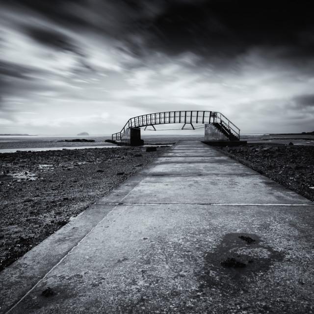 """Belhaven Bay Bridge"" stock image"