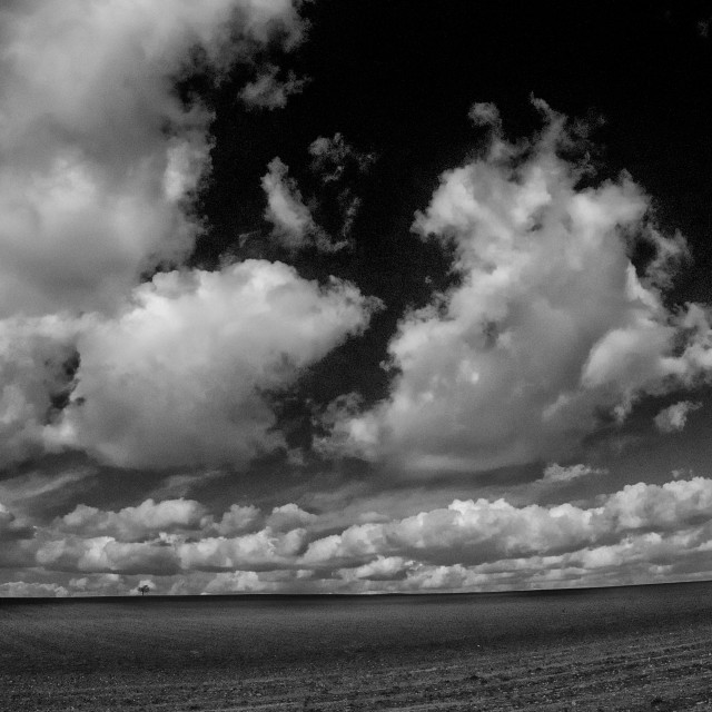 """Big Skies - Black & White"" stock image"