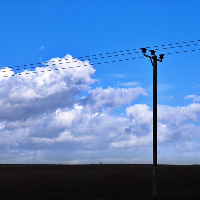 """Telegraph Pole Cloudscape"" stock image"