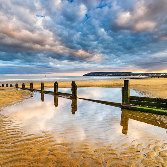 """aberystwyth beach"" stock image"