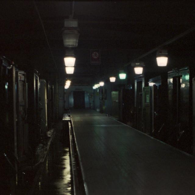 """Warehouse with Minimal Light"" stock image"