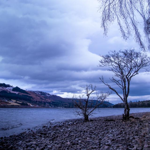 """Winter on Loch Ness"" stock image"
