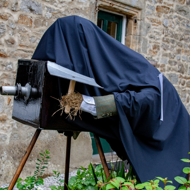 """""""Kettlewell Scarecrow Festival, Photographer. Yorkshire Dales."""" stock image"""