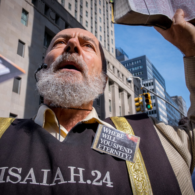 """Pavement Preacher in New York 3"" stock image"