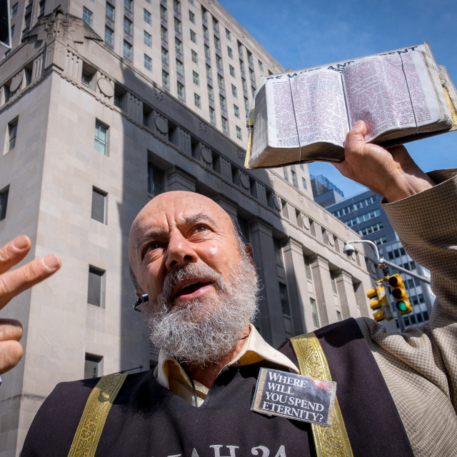 """Pavement Preacher in New York 4"" stock image"
