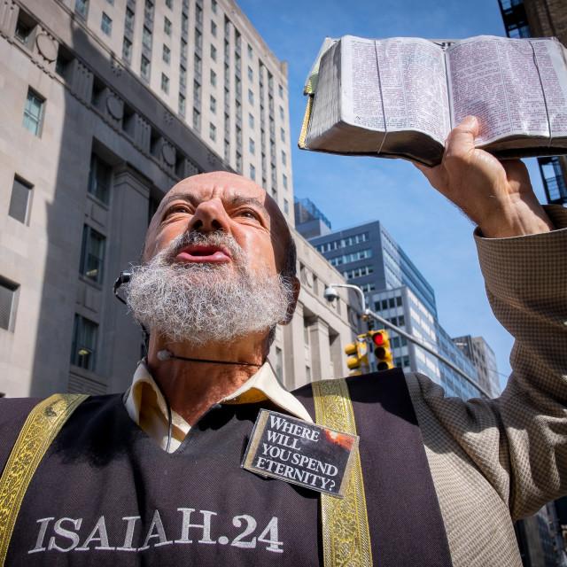 """Pavement Preacher in New York 5"" stock image"