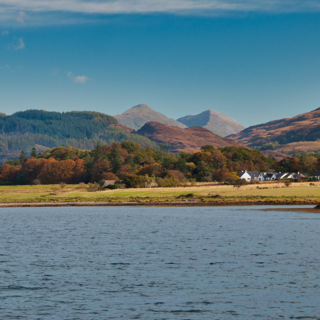 """Loch Linnhe - Kilmalieu"" stock image"