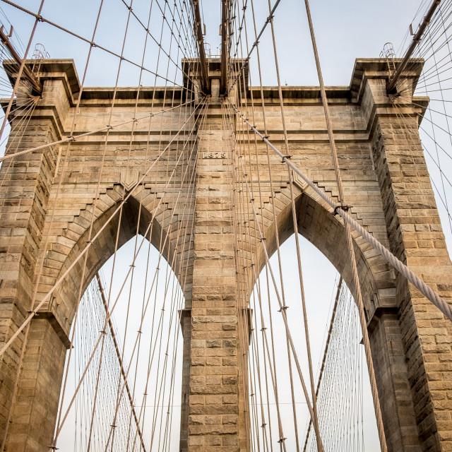 """Brooklyn Bridge, New York. 3"" stock image"