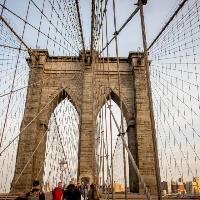 """Brooklyn Bridge, New York. 2"" stock image"