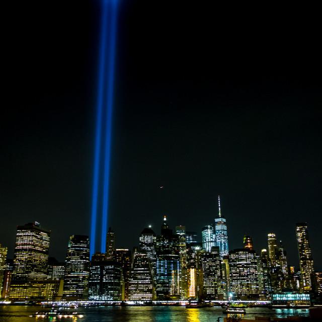 """Tribute in Light, Manhattan. 5"" stock image"