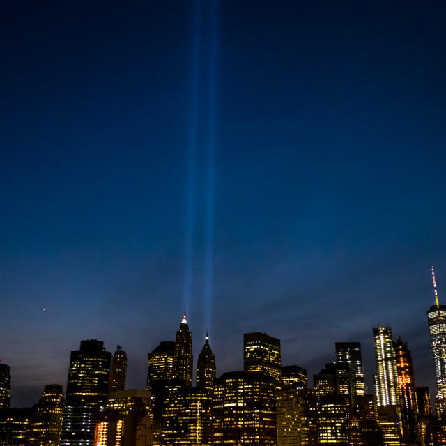"""Tribute in Light, Manhattan."" stock image"